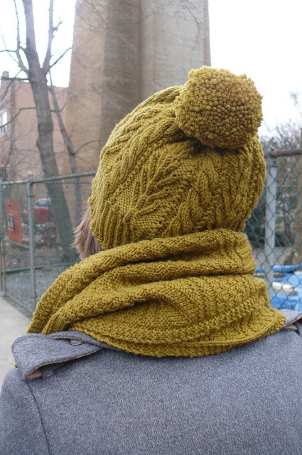 Bough Hat + Guernsey Wrap-- Ginger Makes