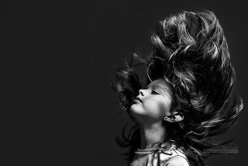 Clau´s hair...strobist by Rey Cuba
