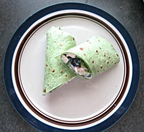 Blueberry  Chicken Salad Wrap (3)