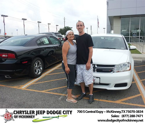 Dodge City of McKinney would like to say Congratulations to Michael Herron on the 2012 Dodge Avenger from Brent Villarreal by Dodge City McKinney Texas