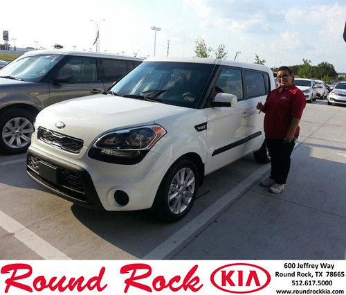 Thank you to Ida Rangel on your new 2013 Kia Soul from Rudy Armendariz and everyone at Round Rock Kia! by RoundRockKia