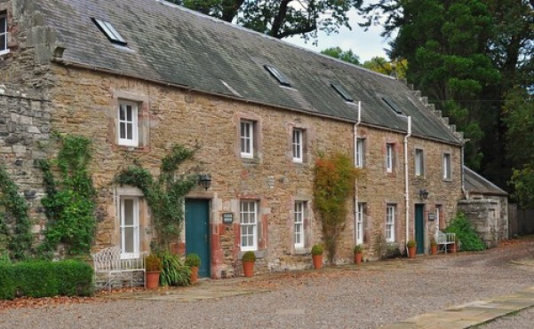 Clock House Cottage and Courtyard Cottage - family friendly holiday accommodation at Mellerstain House in the Scottish Borders