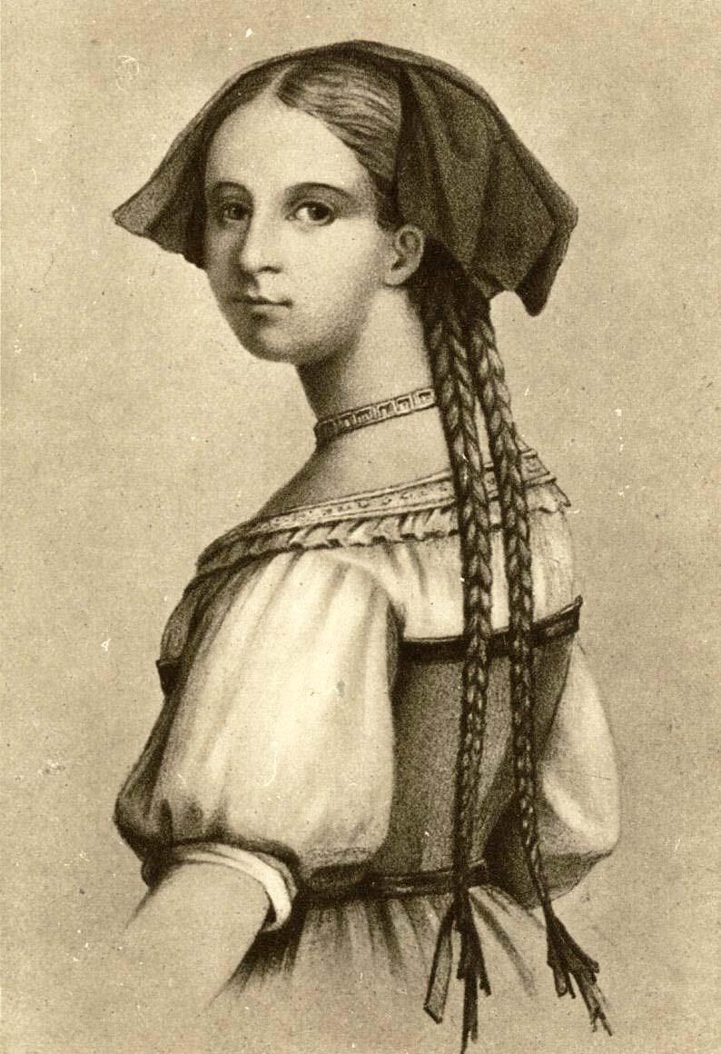 Friederike Brion in Elsässer Tracht um 1770