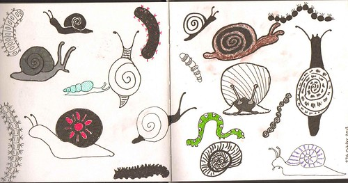 fun with snails and caterpillars