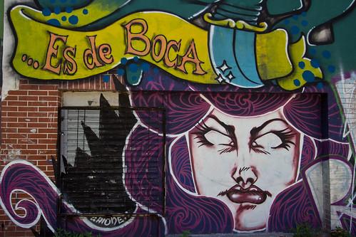 Graffiti en el Barrio de Boca