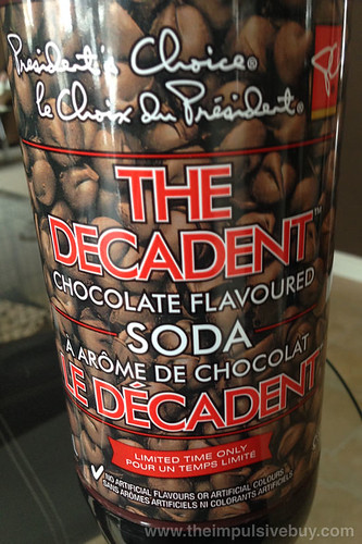 President's Choice Limited Time Only The Decadent Chocolate Flavoured Soda