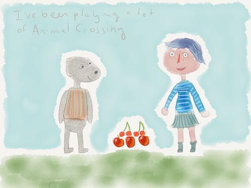 Animal Crossing sketchbook page