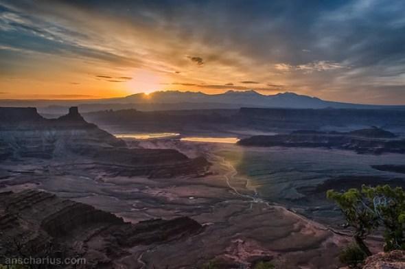 Sunrise over La Sal Mountains - Single Shot