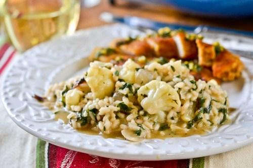 Cauliflower, Onion and Greens Risotto-7