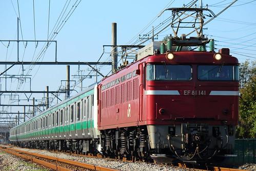 EF81 141 @吹上〜行田