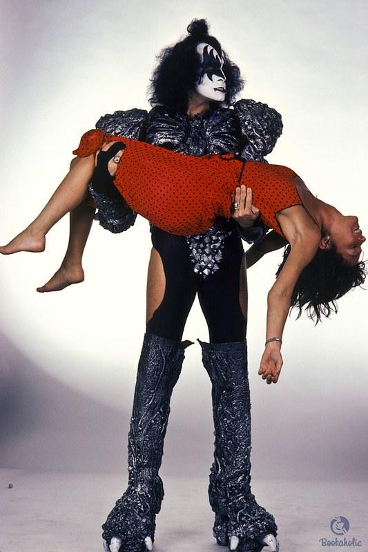 Lynn with Gene Simmons