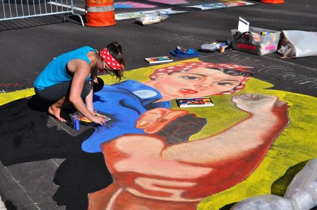 """We Can Do It"" 2013 Sarasota Chalk Festival, Florida, Nov. 17, 2013"