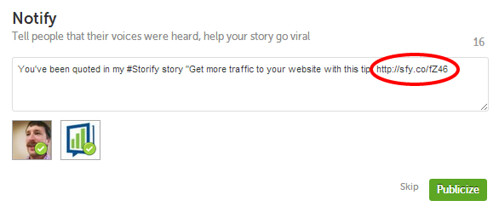 Increase Traffic to Website Using Storify