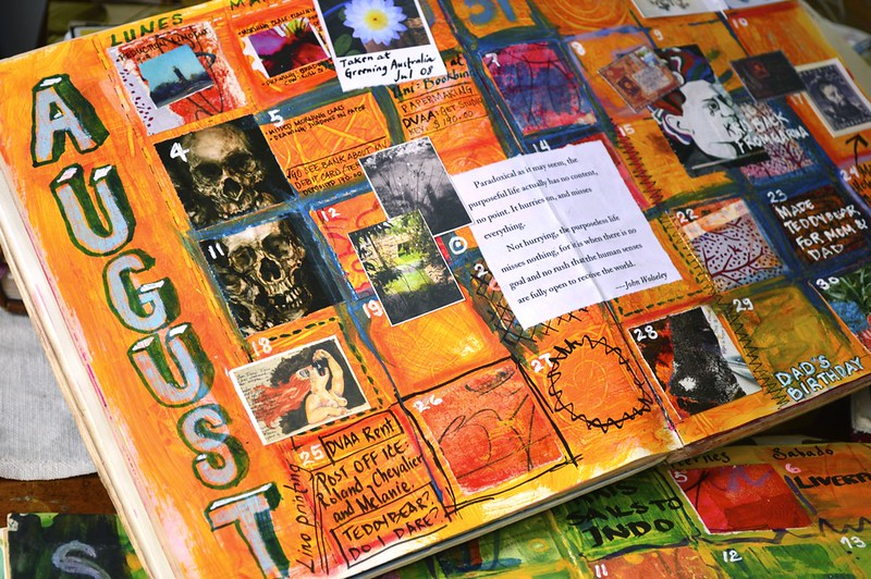 art journal calendar