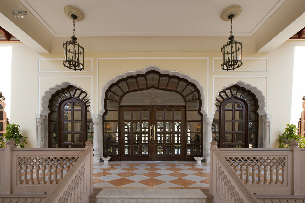Porte Cochere of the Rambagh Palace Hotel