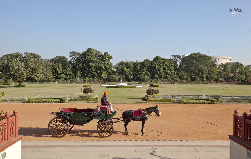 Horse-drawn Carriage at Rambagh Palace