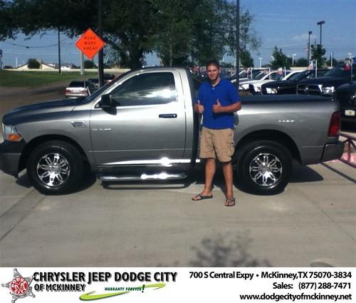 Thank you to Joshua Kardos on the 2010 Dodge Ram from Joe Ferguson and everyone at Dodge City of McKinney! by Dodge City McKinney Texas