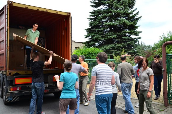Container Unloading Day (7/10/2014)