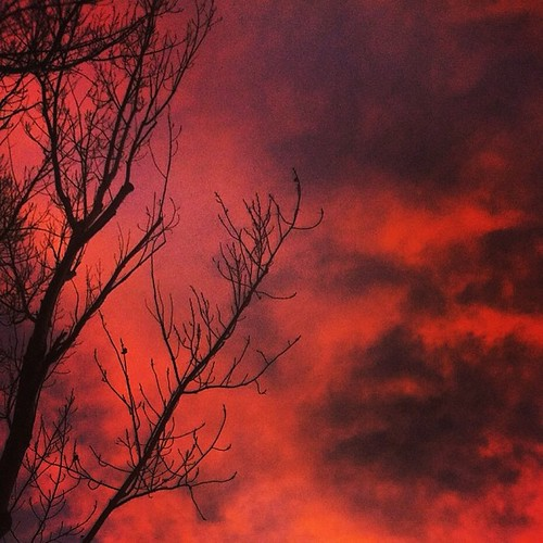 Sky on Fire by @MySoDotCom