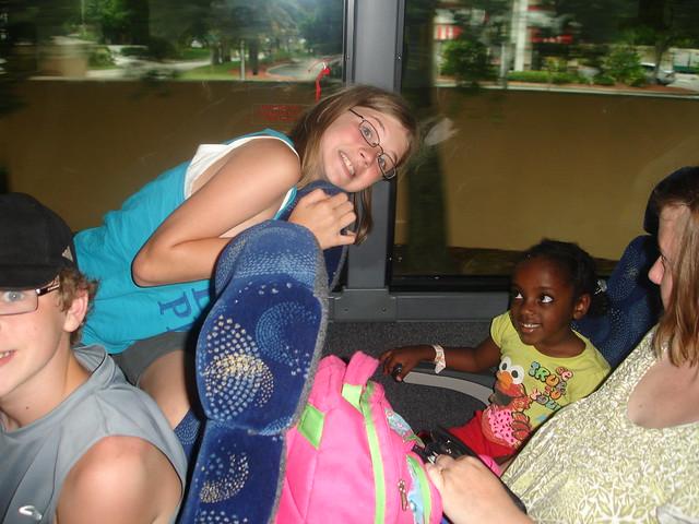 Bus ride from Busch Gardens to Orlando