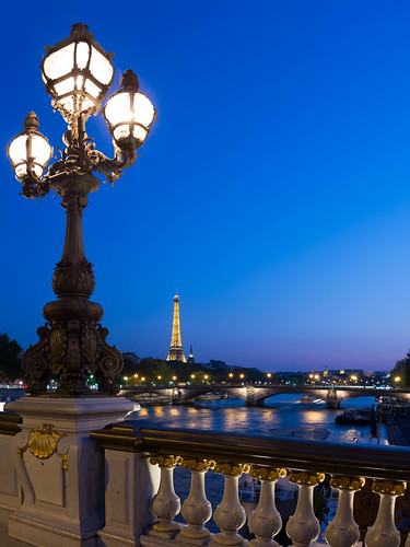 Sunset from the Ponte Alexandre III, Paris