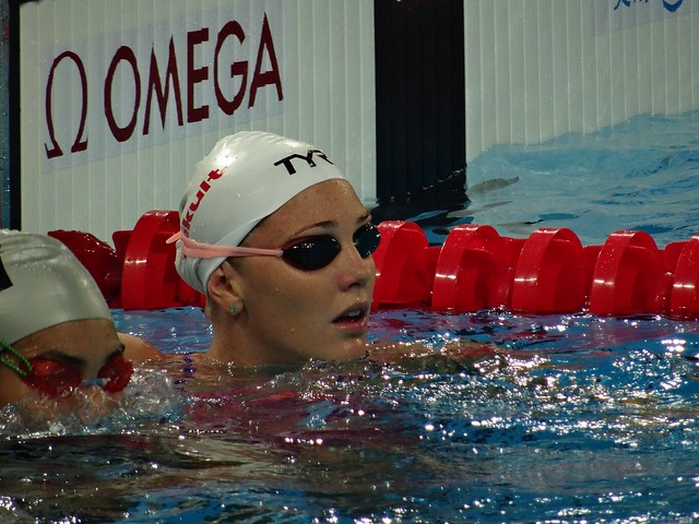 Jeanette Ottesen in the Barcelona 2013 pool
