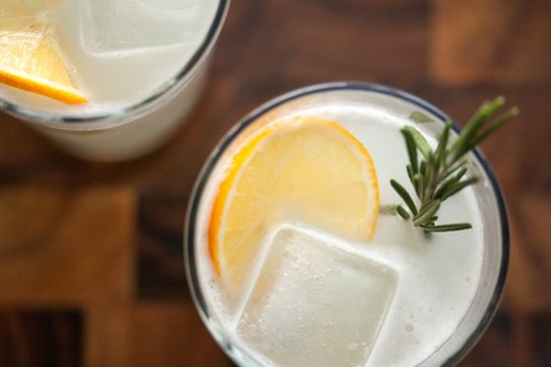Meyer Lemon Rosemary Fizz