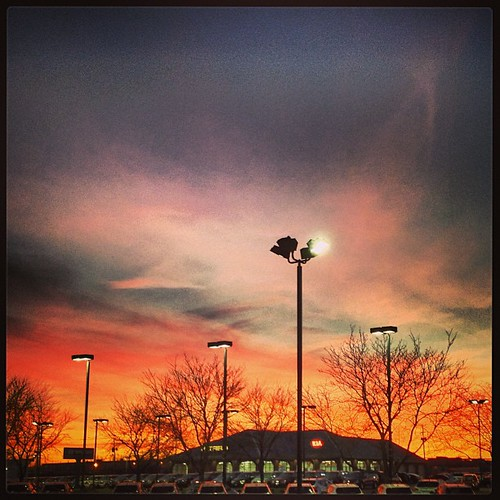 #sunset in #columbus OH by @MySoDotCom