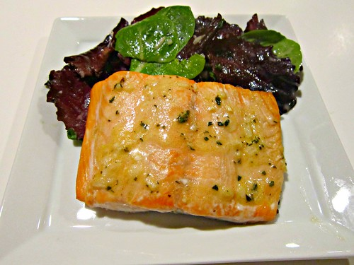 Roasted Salmon with Thyme Vinaigrette (4)