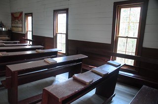 Mount Sterling Baptist Church Pews and Windows