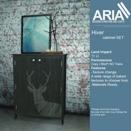 Hiver cabinet set at TMD