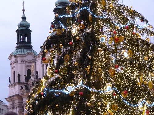 Árbol de Navidad de la Plaza de la Ciudad Vieja de Praga