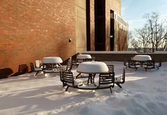 Snowy patio