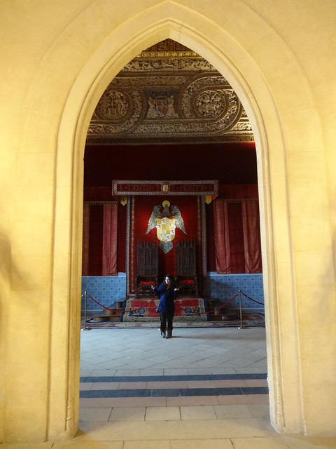 Deena in the Throne Room