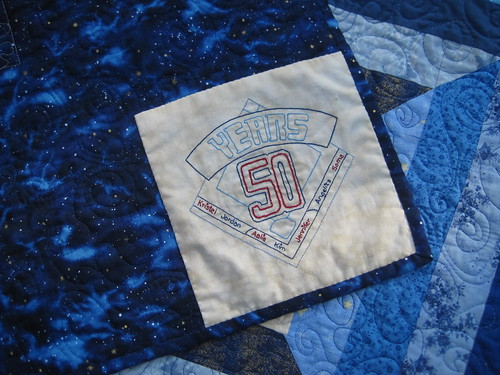 Doctor Who Quilt - Label