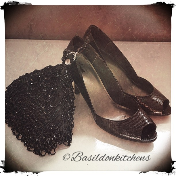 Aug 19 - dance {my evening bag & dancing shoes ready to go to my friend's daughter's wedding} #photoaday #shoes #eveningbag #celebrate #dance