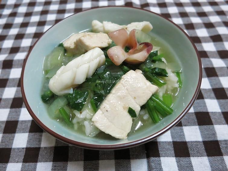 鮮魚透抽燴飯