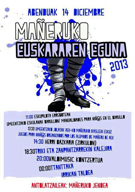 Euskararen Eguna Mañerun