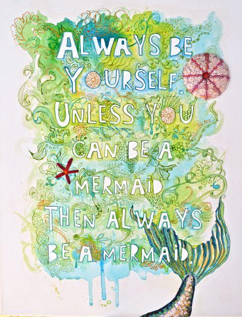 Be a Mermaid design