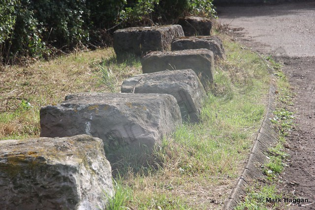 Stones formerly from London's Waterloo Bridge in Harmondsworth Moor