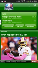 Fantasy football screenshot from my Samsung Galaxy S4 #FamilyMobileSaves, #cbias #shop