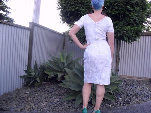 Gertie's brocade dress - back