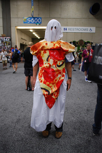 Ghost Pizza costume