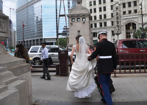 One of Several Newlyweds I Saw Being Photographed