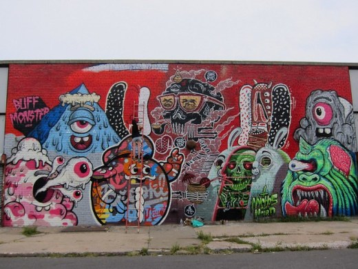 Nychos, Tristan Eaton, Lamour, Sheryo, The Yok, Buff Monster, Bushwick Collective