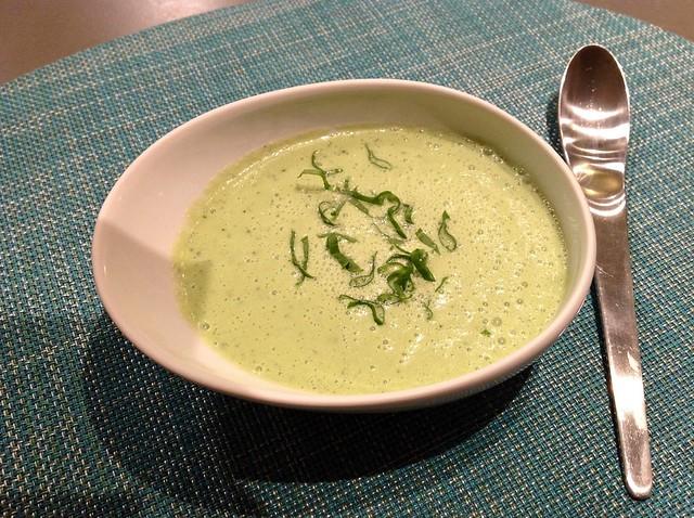 Cucumber sorrel soup