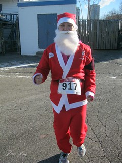 warm up jog in my Santa suit