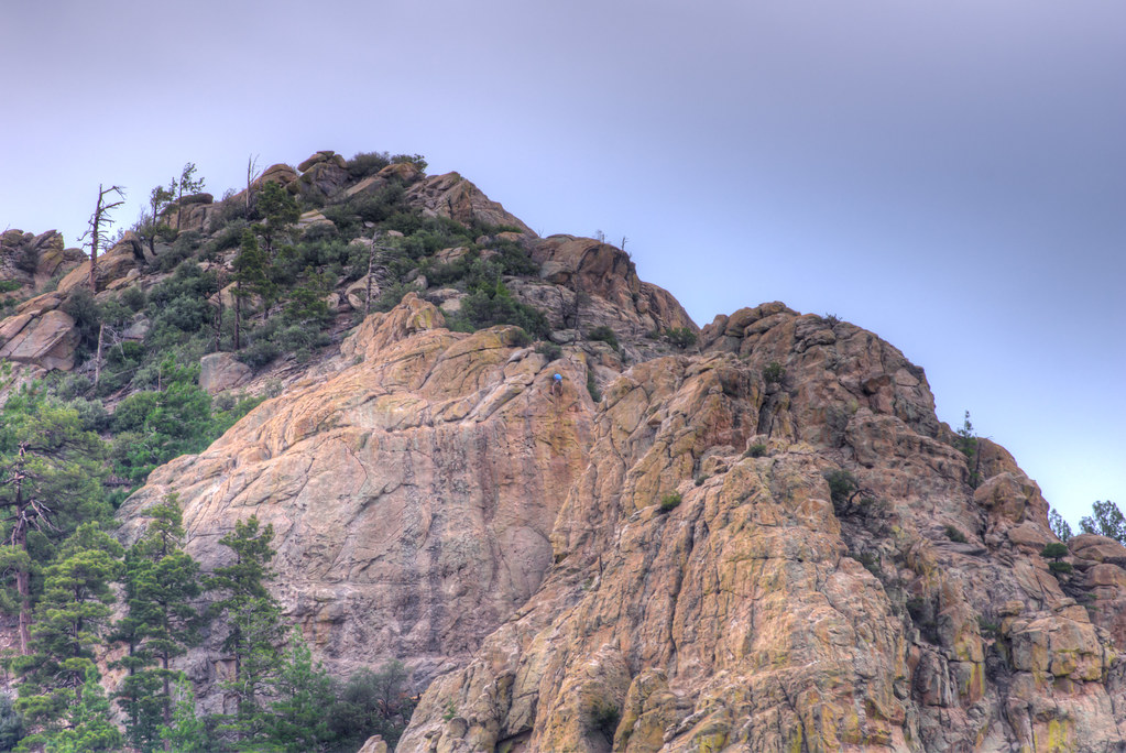 1307 A Climber on Ridgeline