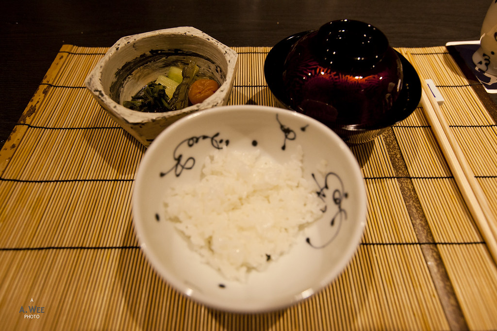 Rice, Miso Soup and Pickles