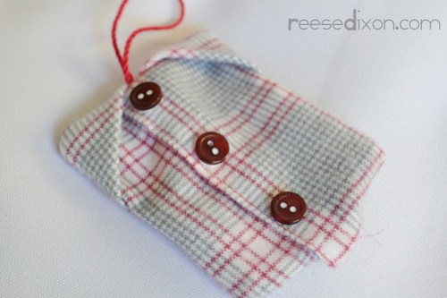 Flannel Shirt Ornament Tutorial Step 5
